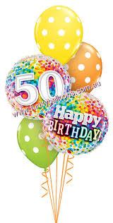 50th birthday balloons 50th birthday funky balloons brisbane qld helium balloon gift