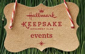 keepsake ornament events hallmark