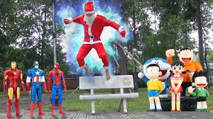 Seeking Santa Claus Episode Learn Colors For With Santa Claus Noel Seeks Doremon Toys And
