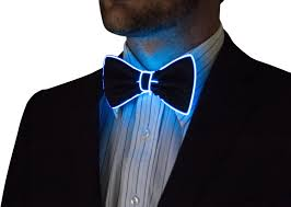 Tron Halloween Costume Light Up by Light Up Bow Tie Neck Glow In The Dark Light Up Rave Wear