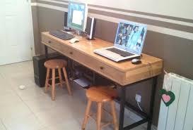 fabrication d un bureau en bois fabriquer bureau fabriquer un bureau idee diy magnifique pour un