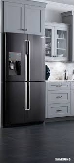 gray kitchen cabinets with black stainless steel appliances kitchens with black and stainless steel appliances featuring