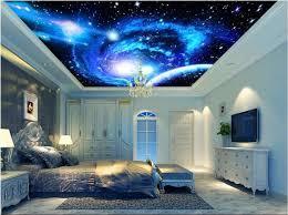 chambre ciel étoilé plafond 3d peintures murales de papier peint personnalisé photo non