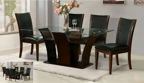 glass top dining room tables rectangular glass top dining table set 6 chairs rectangular square glass