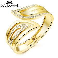 bracelet gold women images Gold women cuff bracelets laser engrave bracelet gold color jpg