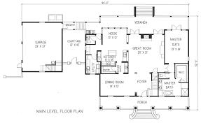 single story house plans detached garage arts