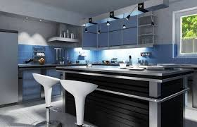 modern blue kitchen design outofhome