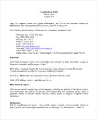 sample resume for internship in computer science computer science