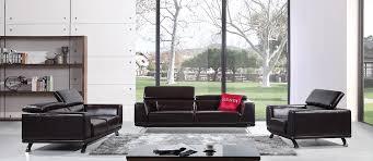 Leather Match Upholstery Casa Brustle Modern Dark Brown Italian Leather Sofa Set