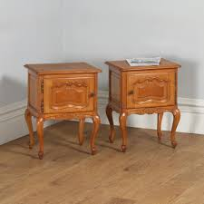 Oak Bedside Tables Pair Of Antique French Louis Xvi Style Oak Bedside Cabinet Tables