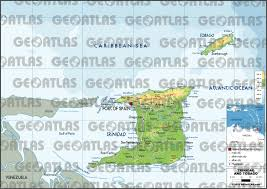 Trinidad Map Geoatlas Countries Trinidad And Tobago Map City Illustrator