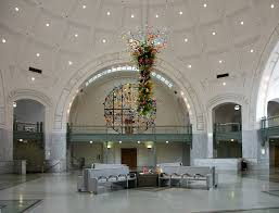 Chandelier Mural Images Of The Union Station By Reed And Stem Tacoma Washington