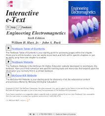 Engineering Electromagnetics 6th Edition 2001 Hayt U0026 Buck