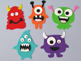 monster set flannel board fun