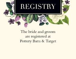 bridal registry cards customizable wedding registry cards by basic invite