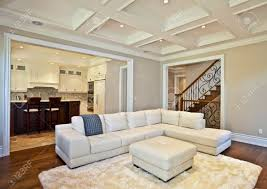elegant living rooms cool tone spring ready living room tour