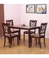 home by nilkamal peak solid wood 4 seater dining set buy home