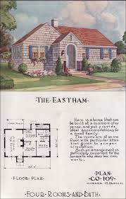 mid century cottage style nationwide house plan service 1950s