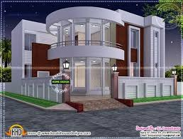 modern house plan with round design element kerala home design