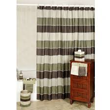 interior pretty red and white shower curtain to beautify your