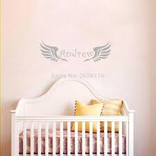 aliexpress com buy custom any baby name personalized angel wings difference between carving wall stickers and printing wall stickers