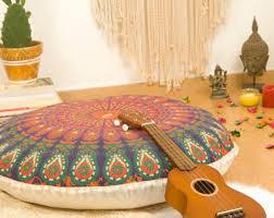pouf ottoman floor cushion seating area meditation cushion