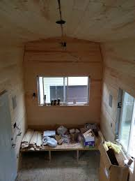 Pine Interior Walls Insulation And Pine Board Tiny House Fat U0026 Crunchy