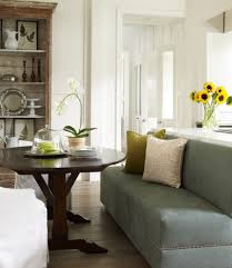 fetching image of dining room decoration using blue grey velvet