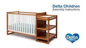 Sorelle Princeton 4 In 1 Convertible Crib With Changer by Delta Children Gramercy U0026 Urban 4 In 1 Crib U0027n U0027 Changer Assembly