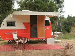 Awnings For Trailers Woman Sews Stylish Camper Awnings That Only Look Vintage