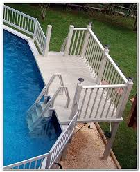 above ground pool deck ladder steps decks home decorating
