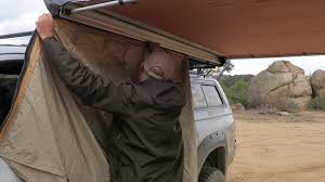 Arb Rear Awning Truck Camping Arb 2500 Drop Down Room Set Up Youtube