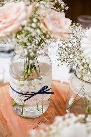jar vases lace jar vases wedding table