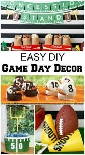 Diy Football Decorations Diy Football Party Decorations From Evite Ad Homebowl Crafty