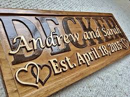 wedding gifts engraved personalized wedding gift last name established sign