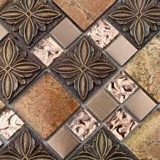 glass mosaic tile kitchen backsplash glass tile brown glass mosaic tiles glass tile