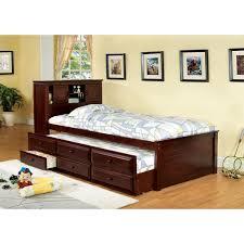 Bookcase Storage Beds Furniture Of America Brighton Twin Bookcase Headboard Storage Bed