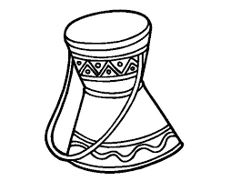 african drum coloring page coloringcrew com