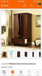 Sauder Palladia Armoire Cherry Winsome Tv Stand Espresso Furniture In Arlington Heights Il