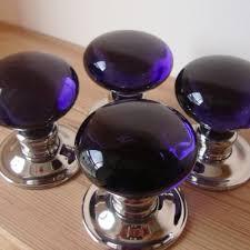 coloured glass door knobs amethyst purple glass door knobs mortice or rim door handles