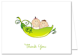 two peas in a pod baby shower two peas in a pod baby shower thank you note cards