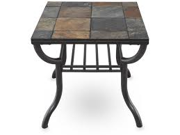 Contemporary End Tables Square Slate Tiled Contemporary End Table In Gunmetal Mathis