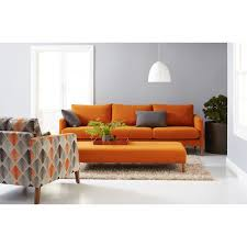 Interior Decor Sofa Sets by Orange Sofa Interior Design Orange Leather Sectional Sofa Orange