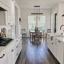 modern farmhouse kitchen cabinets white farmhouse modern farmhouse style galley kitchen ideas decoomo