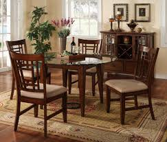 Round Wood Dining Room Tables Furniture Minimalist Looks Of Round Dining Table Set As Your