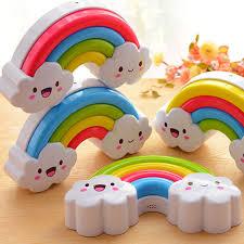 night light sound rainbow led night light l for baby kids children nursery