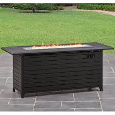 square lp gas fire pit with slate mantel walmart com pits outdoor