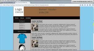tutorial membuat web html sederhana cara membuat desain web sederhana menggunakan html design 2018