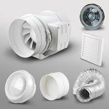 high power in line bathroom extractor fan kit light 4