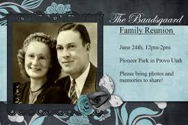 Reunion Invitation Cards Heritage Collector Storybook Family Reunion Flyers Invitations